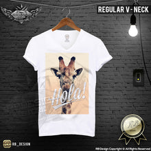 funny giraffe mens regular neck shirt