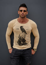 "Mens Long Sleeve T-shirt ""The missing key to happiness"" MD845"