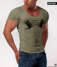 "Men's T-shirt ""The Key to Happiness"" Khaki Beige Fashion Graphic Tee / Color Option / MD846"