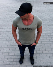 "Men's T-shirts ""New York Advisory""/ Color Option / MD866"