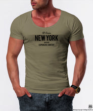 army green scoop neck t-shirt