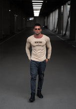 "beige Mens Long Sleeve T-shirt ""New York Advisory"