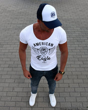 American Eagle Mens White T-shirt RBD Street Style Tees MD872