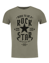 Men's T-shirt Born To be a Rock Star Khaki Beige Gray / Color Option / MD873