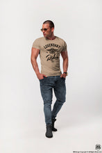crew neck beige t-shirt