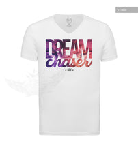 "Dream Chaser Mens White T-shirt ""Lion"" MD877"