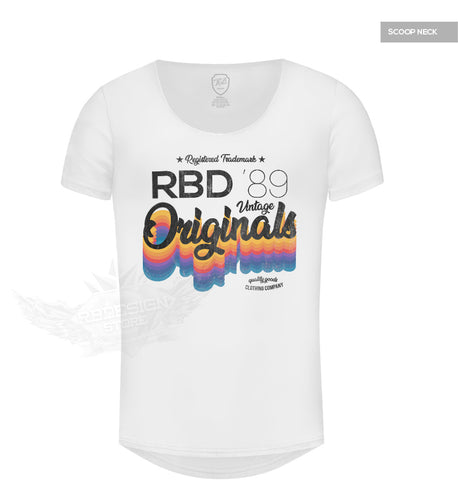 Men's White T-shirt RBD Originals Vintage Style MD879