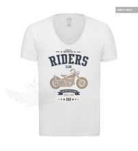 Mens Graphic T-shirt California Motorcycle Riders Blue/Beige MD881