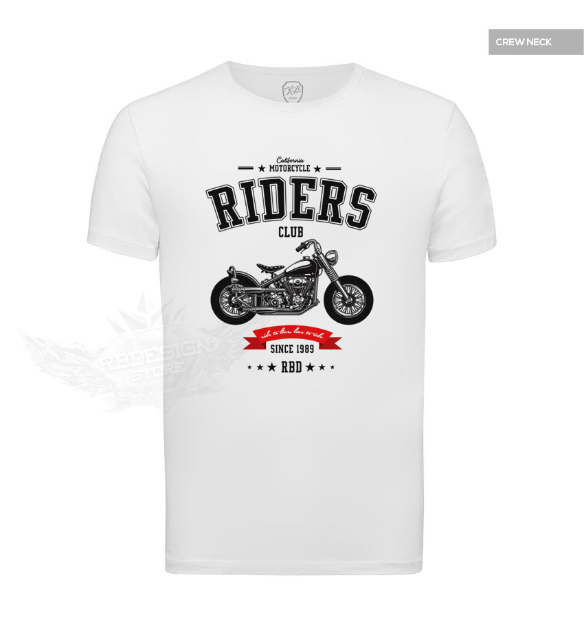 Mens T-shirt California Motorcycle Riders Cool Graphic Tee MD881