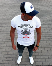 American Muscle Car Stylish Mens White T-shirt MD882