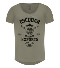 scoop neck escobar graphic t-shirt