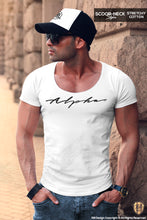 Alpha Men's Casual Fashion White T-shirt HQ Stretch Cotton Tee MD885 BL