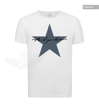 Men's Casual Fashion T-shirt Alpha Male Slim Fit Tee Blue Star MD885S