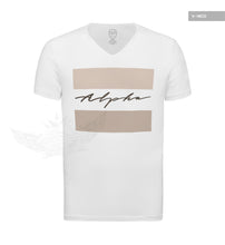 Men's Casual Fashion T-shirt Alpha Male Slim Fit Tee Beige MD885B
