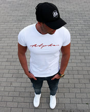 "Mens White T-shirt ""Alpha"" MD885"