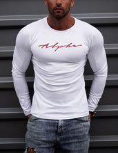 "Mens Long Sleeve T-shirt ""Alpha"" RED MD885"