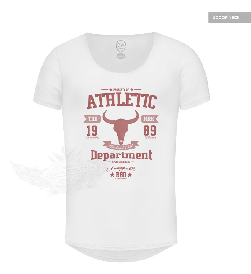 Men's Designer White T-shirt Athletic Department