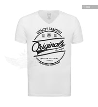 "Casual Men's White RB Design T-shirt ""Originals"" Black MD890BK"