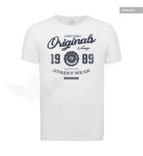 RB Design Originals Men's T-shirt Vintage Style Graphic Tee Jeans Blue MD893