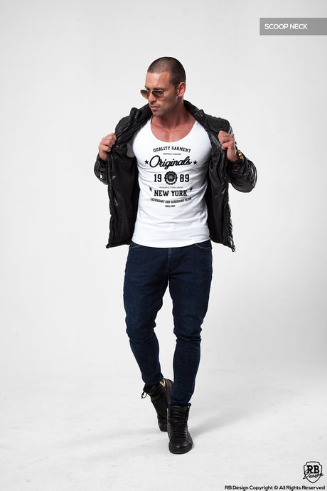 New York Street Fashion Mens T-shirt Casual Graphic Tee MD895BK