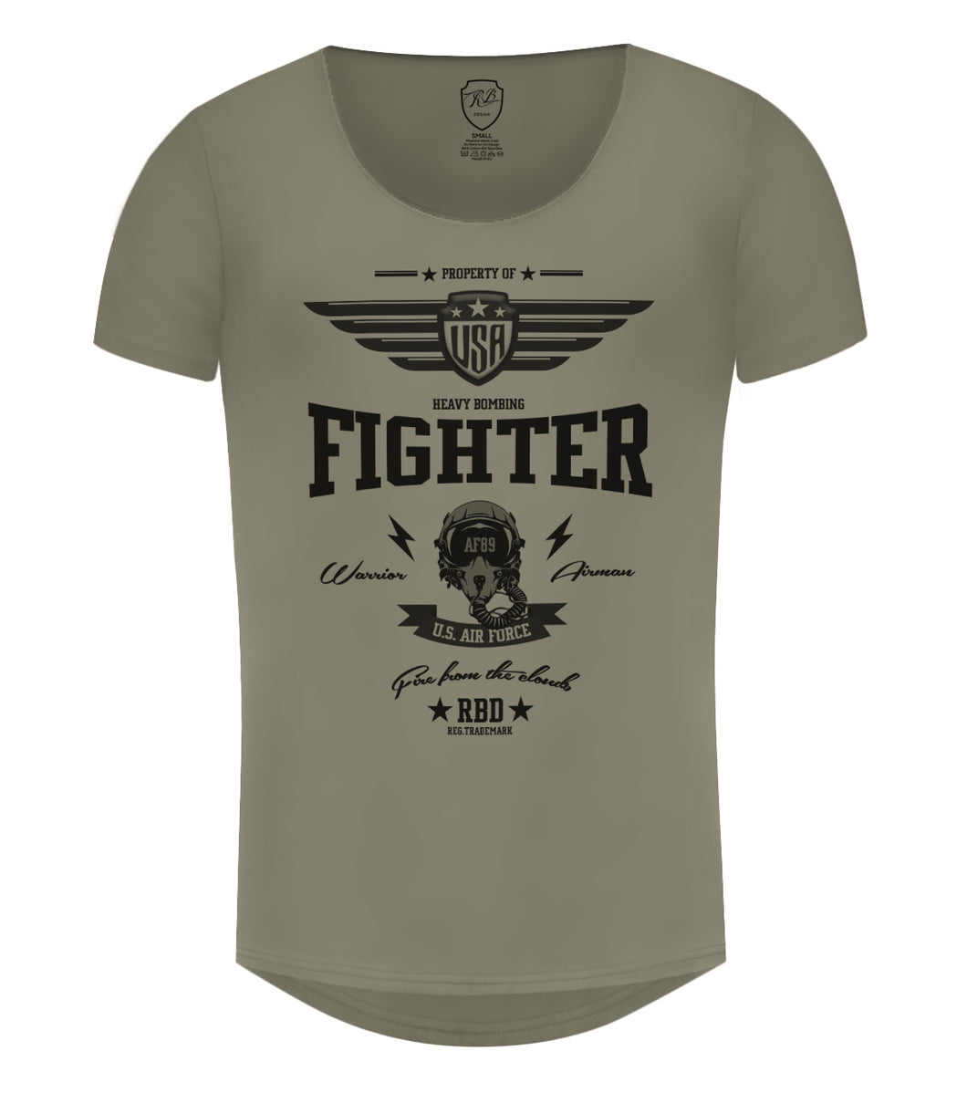 Mens T-shirt US Air Force Fighter MD896