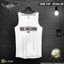 "Men's Training Tank Top ""Rise and Grind"" MD905"