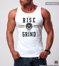"Men's Training Tank Top ""Rise and Grind"" MD908 Y"