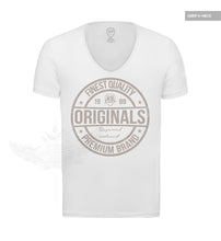 "Finest Quality RB Design Mens White T-shirt Muscle Fit ""Originals"" MD911"