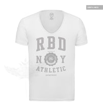 Men's Casual Street Fashion White T-shirt Finest Quality RB Design Tee MD915