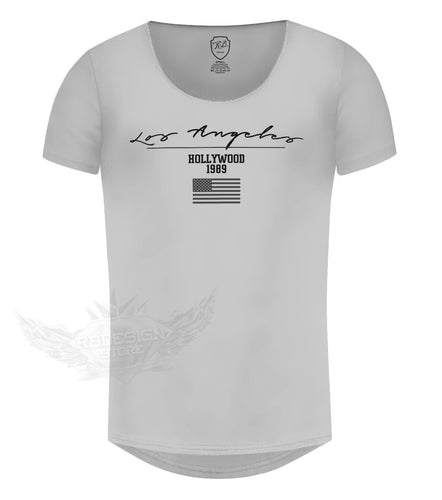 los angeles gray mens t-shirt