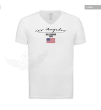 Casual Men's T-shirt Los Angeles US FLag Street Fashion Tee MD917