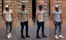 Men's Casual Printed T-shirt Muscle Fit New York Scoop Neck Tee / Color Option / MD917NY