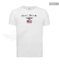 Casual Men's T-shirt New York US FLag Street Fashion Tee MD917
