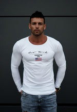 "Mens Long Sleeve T-shirt ""New York"" MD917"