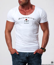 "Limited Edition Mens White Designer T-shirt ""Sinners Club Member"" MD918BS"