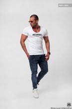 Men's White T-shirt Unstoppable Saying Muscle Fit Cotton Tee MD920