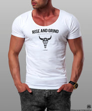 Men's T-shirt Rise And Grind  MD932 Gray