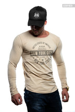 "Mens Long Sleeve T-shirt ""New York"" MD950"