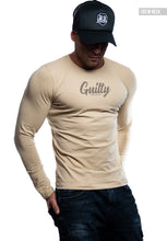"Mens Long Sleeve T-shirt ""Guilty"" MD965"