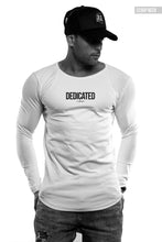 "Mens Long Sleeve T-shirt ""Dedicated"" MD972"