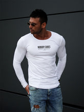 "Mens Long Sleeve T-shirt ""Nobody Cares Work Harder"" MD974"