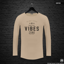 "Mens Long Sleeve T-shirt ""Positive Vibes Zone"" MD977"