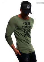 "Mens Long Sleeve T-shirt ""Comfort Zone Will Kill You"" MD979"