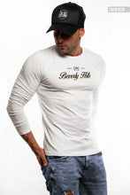 "Mens Long Sleeve T-shirt ""Beverly Hills"" MD987"