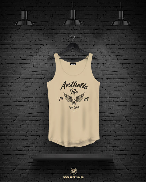 Men's Beige Tank Top