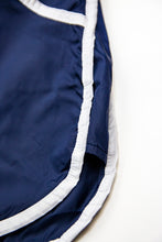 Dark Blue Men's Swimming Shorts With White Borders BW02DB