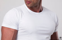 Men's Plain White Crew Neck T-shirt