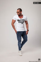wasted youth deep v neck t-shirt