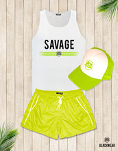 Bundle 3 - Green Beach Shorts + Green Hat + Tank Top MD935