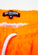 Bundle Mens Swimming Orange Shorts +  Orange Hat  BW01OSOH
